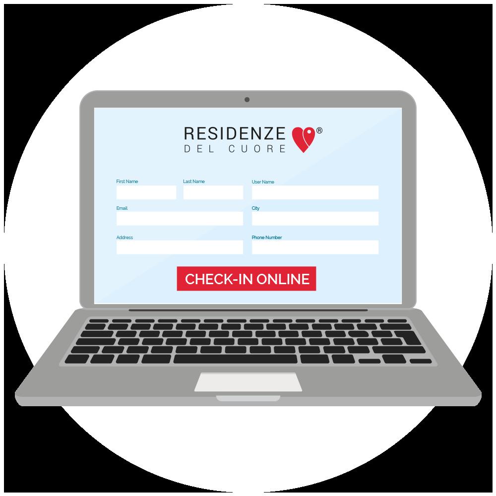 Check in online per le prenotazioni nella Residenza GB Rossi.